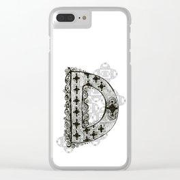 Color Me D Clear iPhone Case
