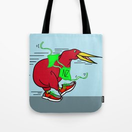 Kiwi Wearing Running Shoes Tote Bag