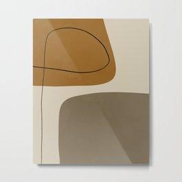 Organic Abstract Shapes #1 Metal Print