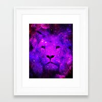 hipster lion Framed Art Prints featuring Hipster Lion by Berberism