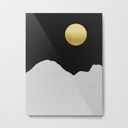 Fashion landscape with gold Metal Print