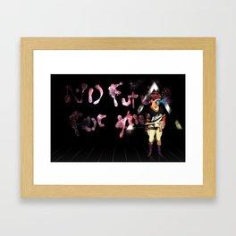 No future for you Framed Art Print