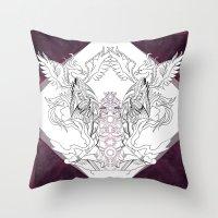 chakra Throw Pillows featuring Chakra by BAKLAVART