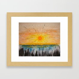 Island on the Sun  Framed Art Print
