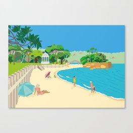 Modern Retro Art Print of Balmoral Beach, Sydney, Australia Canvas Print