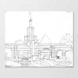 The Hague Netherlands LDS Temple Canvas Print