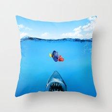 Shark Attack Nemo Throw Pillow