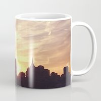 nashville Mugs featuring Nashville Skyline by  Dreambox Designs