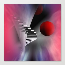 go upstairs Canvas Print