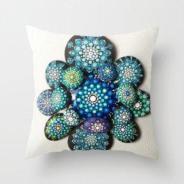 Blue Explosion Throw Pillow