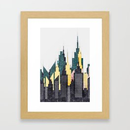 Colorful City Buildings And Skyscrapers Sketch, New York Skyline, Wall Art Poster Decor, New York Framed Art Print