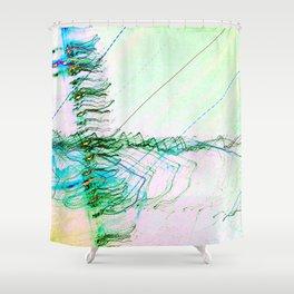 The Rush Aesthetic Shower Curtain