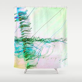 The Rush Aesthetic Shower Curtain