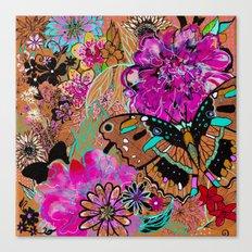 Neon Butterflies Canvas Print