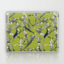 dog party indigo citron Laptop & iPad Skin