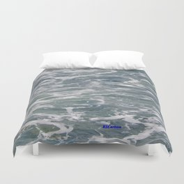TEXTURES -- Ferry Wake in Puget Sound Duvet Cover