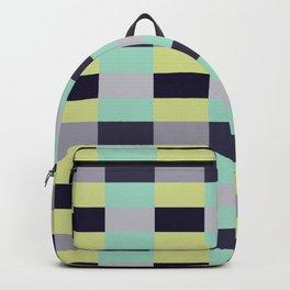 soft color shades minimalist tartan geometric pattern Backpack