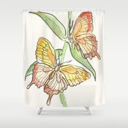 Butterfly Tango Shower Curtain