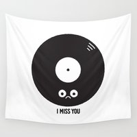 record Wall Tapestries featuring For the Record by David Olenick