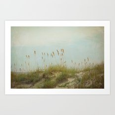 The Setting Sun Kissed the Sea Oats and Just Beyond .... Art Print