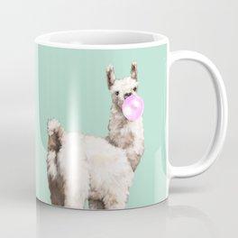 Baby Llama Blowing Bubble Gum Coffee Mug