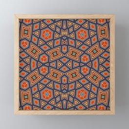 Geometric Hexagon Stars Framed Mini Art Print
