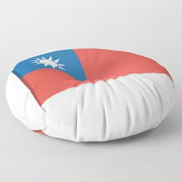 Flag of Taiwan.  The slit in the paper with shadows. Floor Pillow