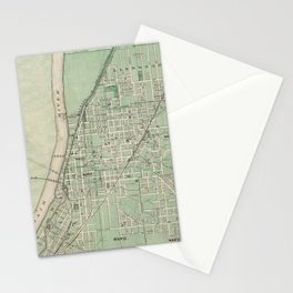 Vintage Map of Lafayette Indiana (1876) Stationery Cards
