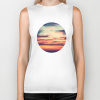 sunset Biker Tanks featuring Sunset by JoanaRosaC
