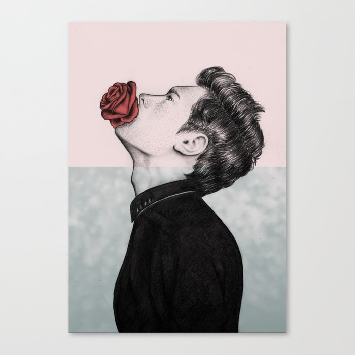 Mouth Flower Canvas Print