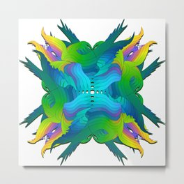 Wild unfirling Metal Print