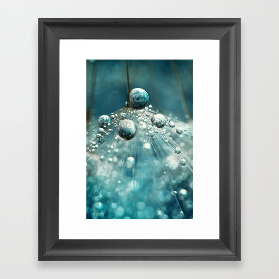 Midnight Blue Dandy rain Framed Art Print