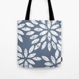 Marbled Grey Flowers Pattern Tote Bag