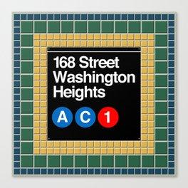 subway washington heights sign Canvas Print