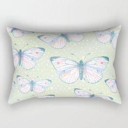 vintage butterfly pattern Rectangular Pillow