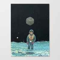 noir Canvas Prints featuring Noir by Jake Lockett Art & Illustration