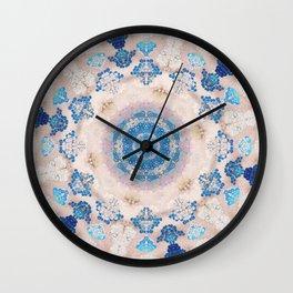 Cream Rose Mandala Wall Clock