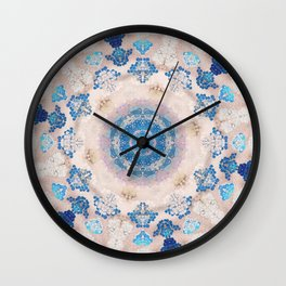 Cream Rose Mandala Wall Clock