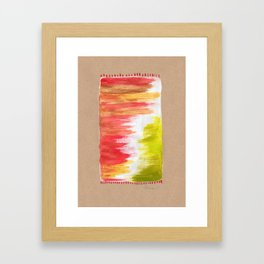 Color Wash Aztec Rug Framed Art Print