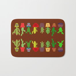 Cactus in brown Bath Mat