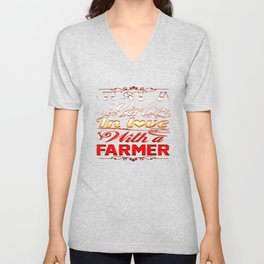 In love with a farmer Unisex V-Neck