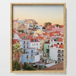 Lisbon sunset Serving Tray
