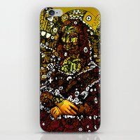 mona lisa iPhone & iPod Skins featuring #MONA #LISA by JOHNF