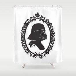 Dark Cameo Shower Curtain