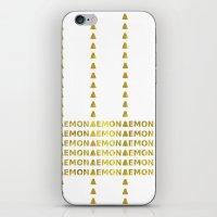 lemon iPhone & iPod Skins featuring Lemon by ARTbyJWP