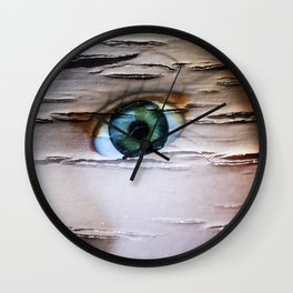 Doll With the Green Eye Wall Clock