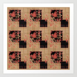 Abstract floral pattern Art Print