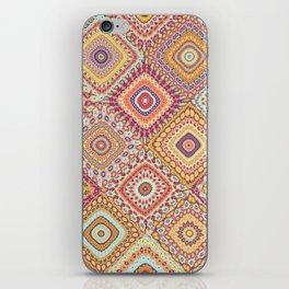 Granny's Millefiori Quilt-Spring Colors iPhone Skin