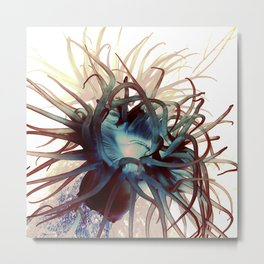 Sea anemone marine life ocean original artwork Metal Print