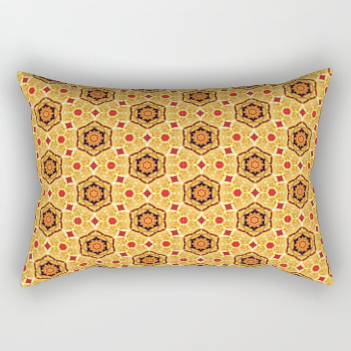 Crowded Japanese Cherry Blossoms Rectangular Pillow